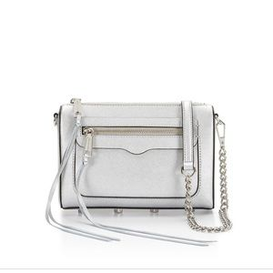 Rebecca minkoff Avery crossbody silver purse